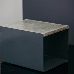 u shaped concrete side table
