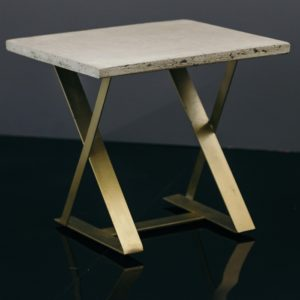 z shaped side table concrete